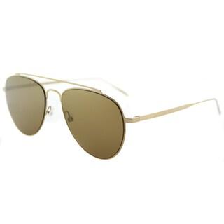 Tomas Maier tm8 003 Teardrop Aviator Gold Metal Aviator Sunglasses with Brown Lens