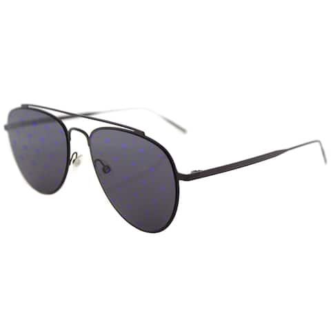 Tomas Maier tm8 008 Teardrop Aviator Violet Metal Aviator Sunglasses with Violet Mirror Palm Lens