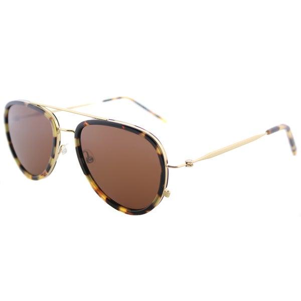 50e835b3f1 Tomas Maier tm9 002 Classic Aviator Havana Gold Plastic Aviator Sunglasses  with Brown Lens