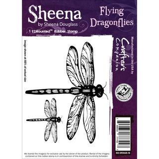 Sheena Douglass Cling Stamp-Flying Dragonflies