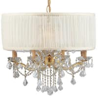 Crystorama Brentwood Collection 12-light Gold/Crystal Chandelier