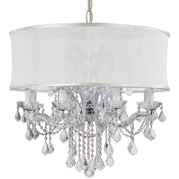 Crystorama Brentwood Collection 12 Light Polished Chrome Crystal Chandelier