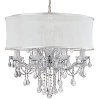 Crystorama Brentwood Collection 12-light Polished Chrome/Crystal Chandelier