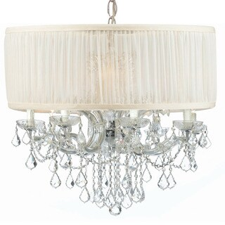Crystorama Brentwood Collection 12-light Polished Chrome/Swarovski Spectra Crystal Chandelier