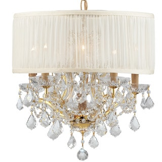 Crystorama Brentwood Collection 6-light Gold/Crystal Chandelier