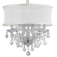 Crystorama Brentwood Collection 6-light Polished Chrome/Swarovski Elements Strass Crystal Chandelier