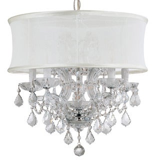 Crystorama Brentwood Collection 6-light Polished Chrome/Swarovski Spectra Crystal Chandelier