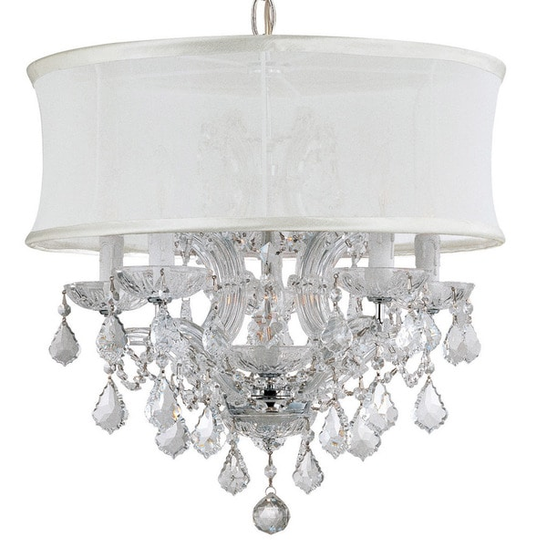 Crystorama Brentwood Collection 6 Light Polished Chrome Crystal Chandelier