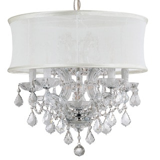 Crystorama Brentwood Collection 6-light Polished Chrome/Crystal Chandelier