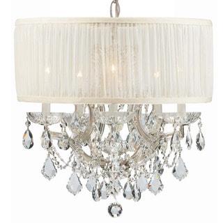 Crystorama Brentwood Collection 6-light Polished Chrome/Swarovski Strass Crystal Chandelier