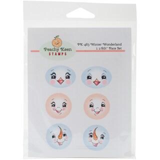 Peachy Keen Stamps Clear Face Assortment 6/Pkg-Winter Wonderland