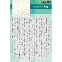 "Penny Black Cling Stamp 5""X7""-Script"