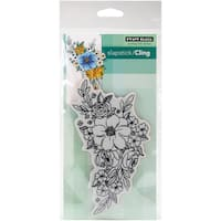 """Penny Black Cling Stamp 5""""X7""""-Flower Cascade"""