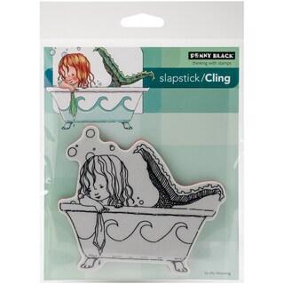 Penny Black Cling Stamp 4X6-Mermaid Bath