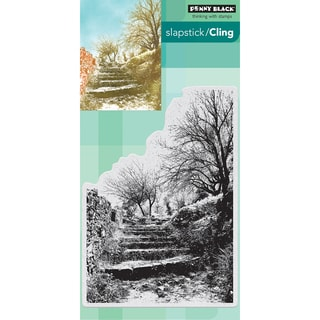 Penny Black Cling Stamp 5X7-Terraced Lane