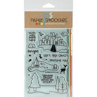 Paper Smooches Clear Stamps 4X6 -Sweet Escape