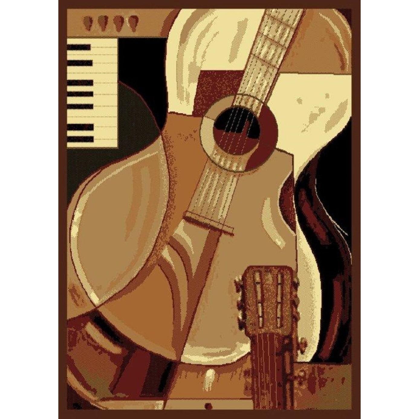 "United Weavers Legends Guitar Area Rug (3'3 x 4'11) (3'3""..."