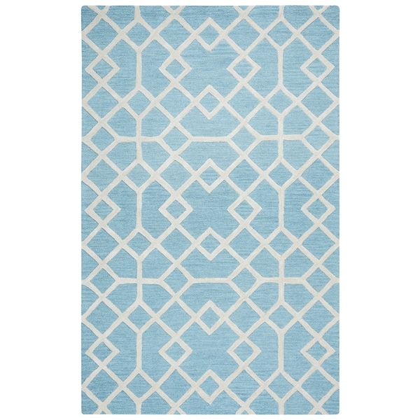 Hand-tufted Caterine Blue Wool Area Rug ( 2' x 3' ) - 2' x 3'