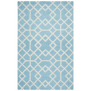 Hand-tufted Caterine Blue Wool Area Rug ( 2' x 3' )