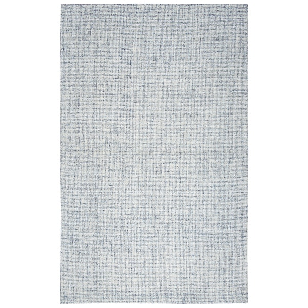 Hand-tufted Brindleton Blue Solid Wool Area Rug (9' x 12') - 9' x 12'