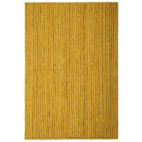 "Natural Jute & Yellow Cotton Racetrack Rug (30x50"") - 30"" x 50"""