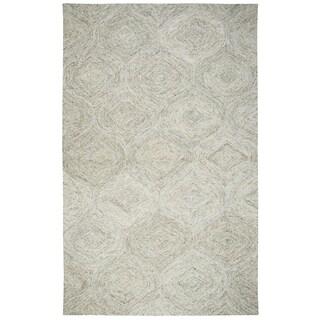 Hand-tufted Brindleton Beige Trellis Wool Area Rug (9' x 12')
