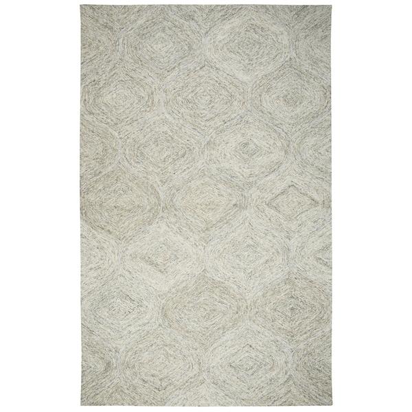 Hand-tufted Brindleton Beige Trellis Wool Area Rug (8' x 10') - 8' x 10'