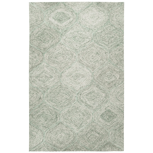 Hand-tufted Brindleton Green Trellis Wool Area Rug (9' x 12')