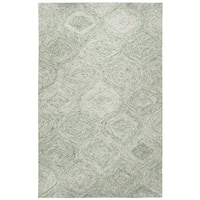 Hand-tufted Brindleton Green Trellis Wool Area Rug - 9' x 12'