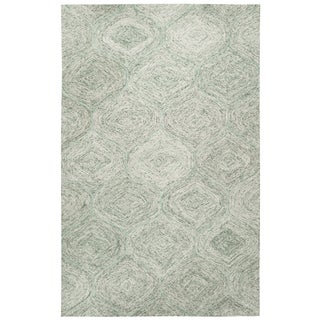 Hand-tufted Brindleton Green Trellis Wool Area Rug - 9' x 12'