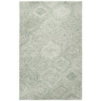 Brindleton Hand-Tufted Green Trellis Wool Area Rug (8' x 10') - 8' x 10'