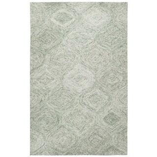 Brindleton Hand-Tufted Green Trellis Wool Area Rug (8' x 10') - 8' x 10'