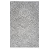 Brindleton Hand-Tufted Grey Trellis Wool Area Rug (9' x 12')