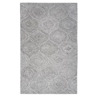 Brindleton Hand-Tufted Grey Trellis Wool Area Rug (8' x 10')