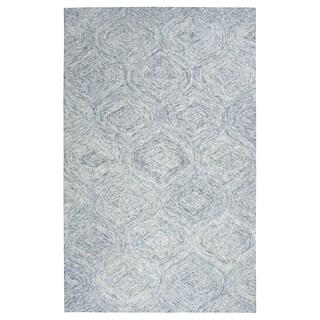 Hand-tufted Brindleton Blue Trellis Wool Area Rug (9' x 12')