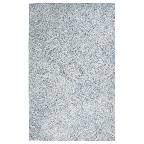 Hand-tufted Brindleton Blue Trellis Wool Area Rug (8' x 10')