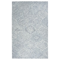 Hand-tufted London Blue Trellis  Wool Area Rug  (8' x 10') - 8' x10'