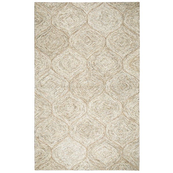 Hand-tufted Brindleton Brown Trellis Wool Area Rug (9' x 12') - 9' x 12'