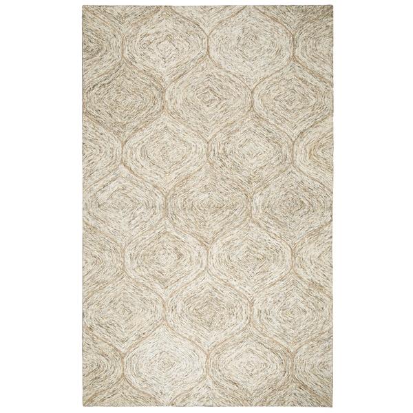 Hand-tufted Brindleton Brown Trellis Wool Area Rug (8' x 10')