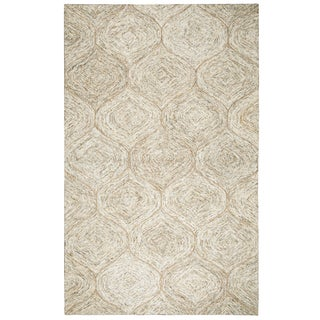 Hand-tufted London Brown Trellis  Wool Area Rug  (8' x 10') - 8' x 10'