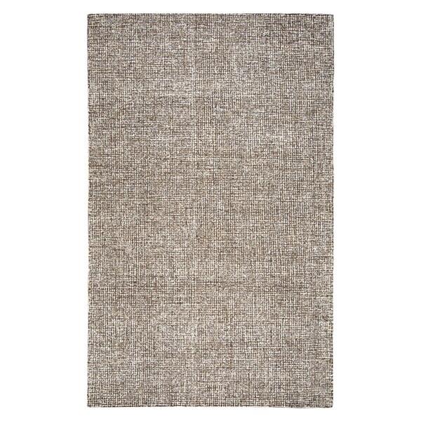 Hand-tufted Brindleton Brown Solid Wool Area Rug - 9' x 12'