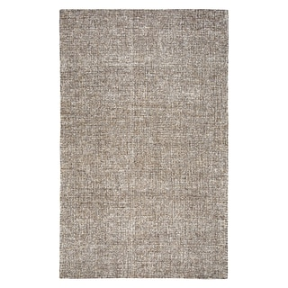 Hand-tufted London Brown Solid  Wool Area Rug  (9' x 12') - 9' x 12'