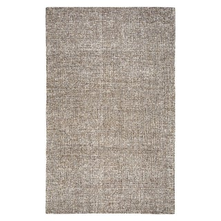 Hand-tufted Brindleton Brown Solid  Wool Area Rug  (8' x 10')