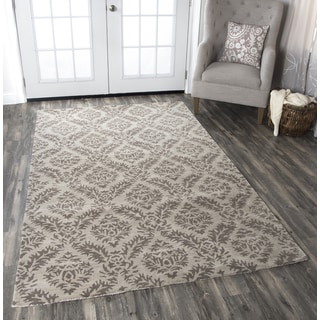 Hand-tufted Volare Natural Wool Demask Area Rug ( 2' x 3' )