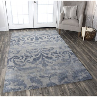 Hand-tufted Volare Grey Wool Ikat Area Rug ( 2' x 3' )