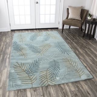 Hand-tufted Pandora Blue Wool Floral Area Rug ( 2' x 3' )