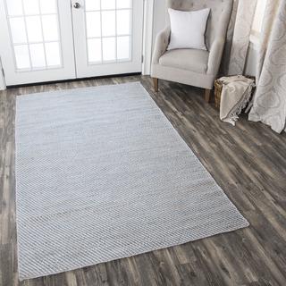 Hand-woven  Ellington Natural Jute/ Wool  Stripe Area Rug ( 2' x 3' )