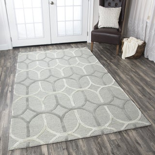 Hand-tufted Caterine Grey Wool Trellis Area Rug ( 2' x 3' )