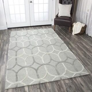 Hand-tufted Caterine Grey Wool Trellis Area Rug ( 2' x 3' )