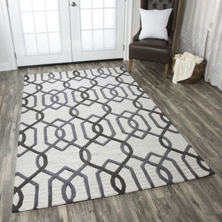 Hand-tufted Caterine Grey Wool Area Rug ( 2' x 3' )